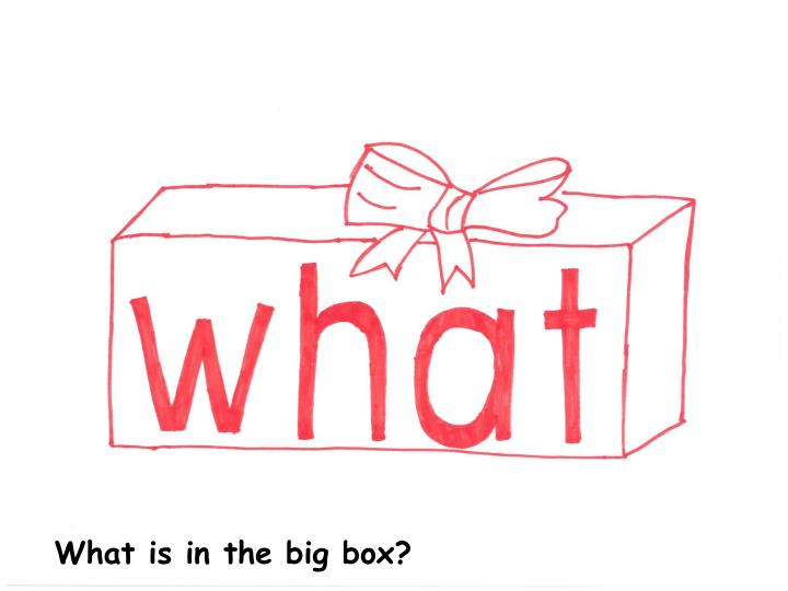 What is in the big box?