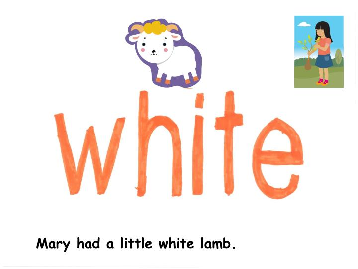 Mary had a little white lamb.