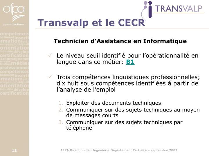 Transvalp et le CECR