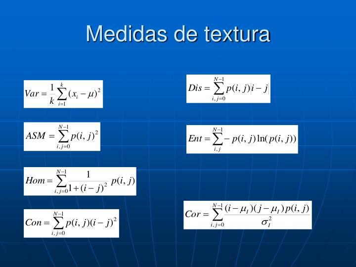 Medidas de textura