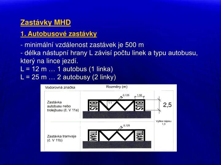 Zastávky MHD