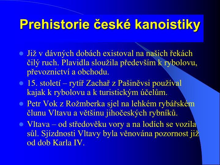 Prehistorie esk kanoistiky