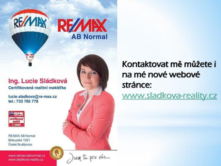 Kontaktovat mě můžete i na mé nové webové stránce: