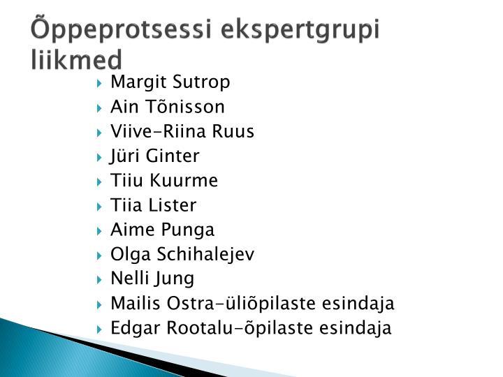 Õppeprotsessi ekspertgrupi liikmed