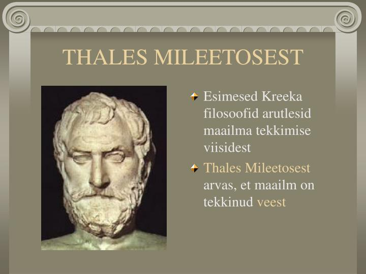 THALES MILEETOSEST