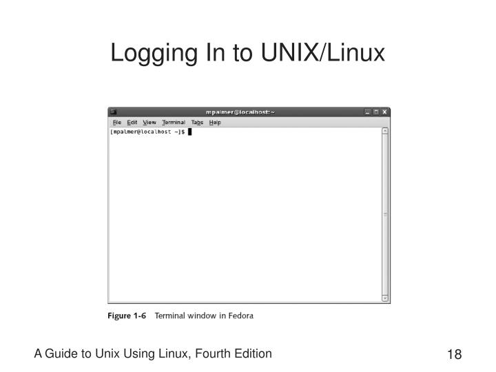 Logging In to UNIX/Linux