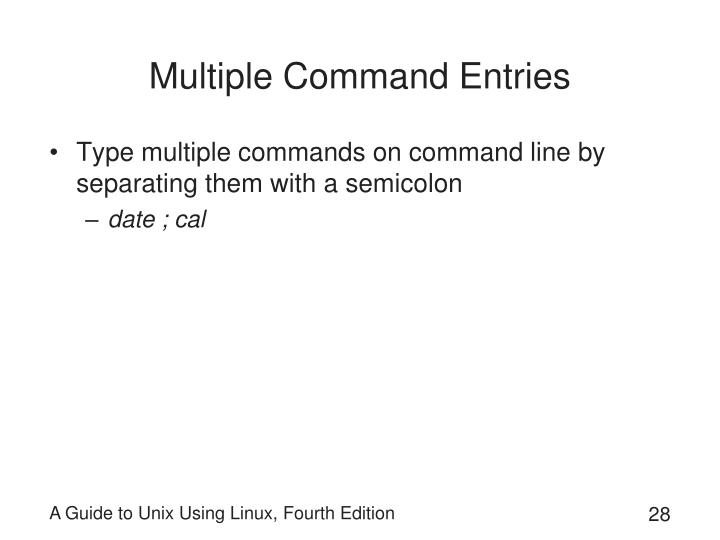 Multiple Command Entries