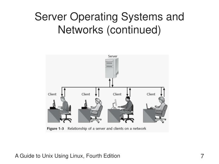 Server Operating Systems and Networks (continued)