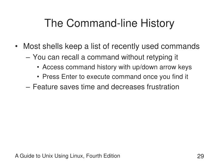The Command-line History