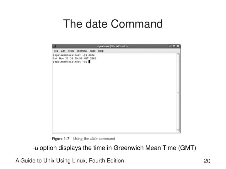 The date Command