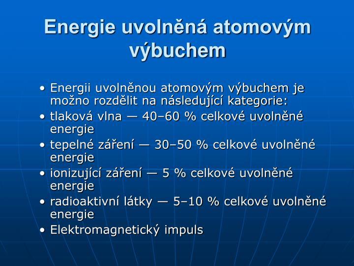 Energie uvolněná atomovým výbuchem