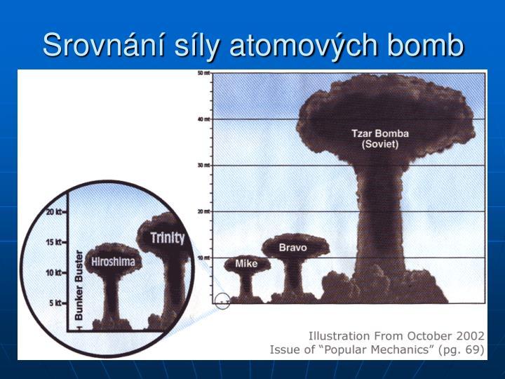 Srovnání síly atomových bomb