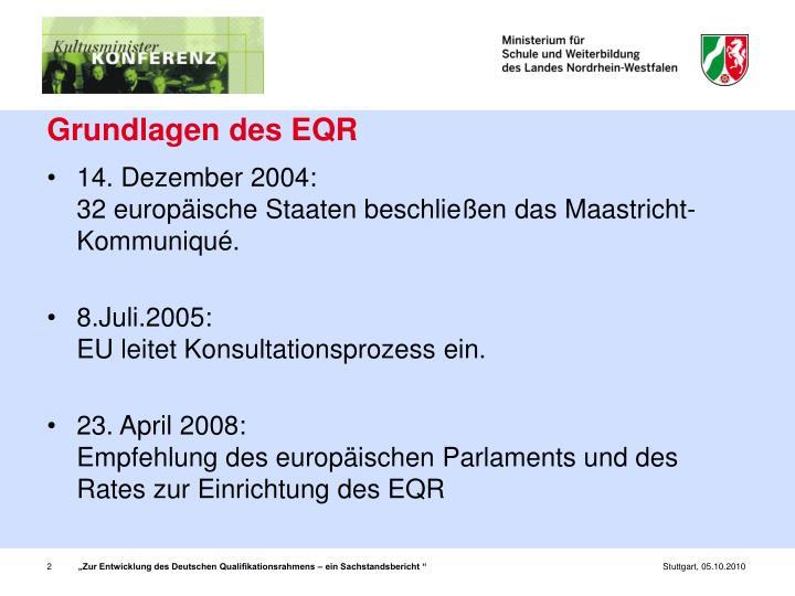 Grundlagen des EQR