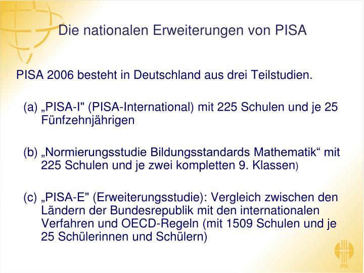 Die nationalen Erweiterungen von PISA