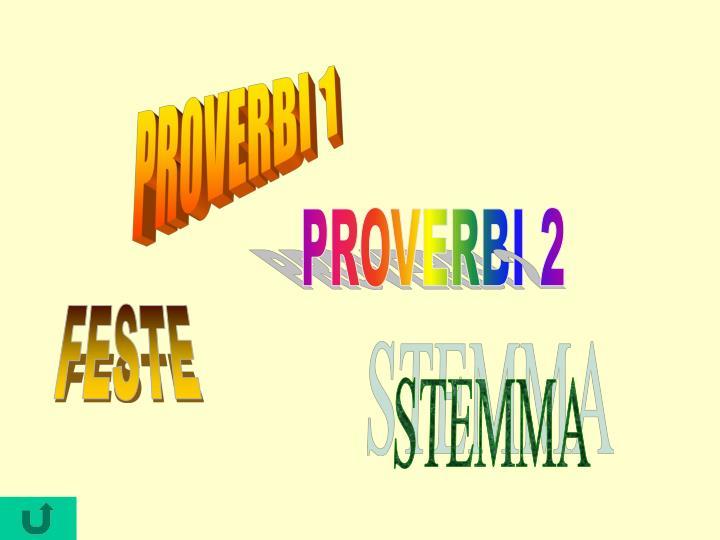 PROVERBI 1