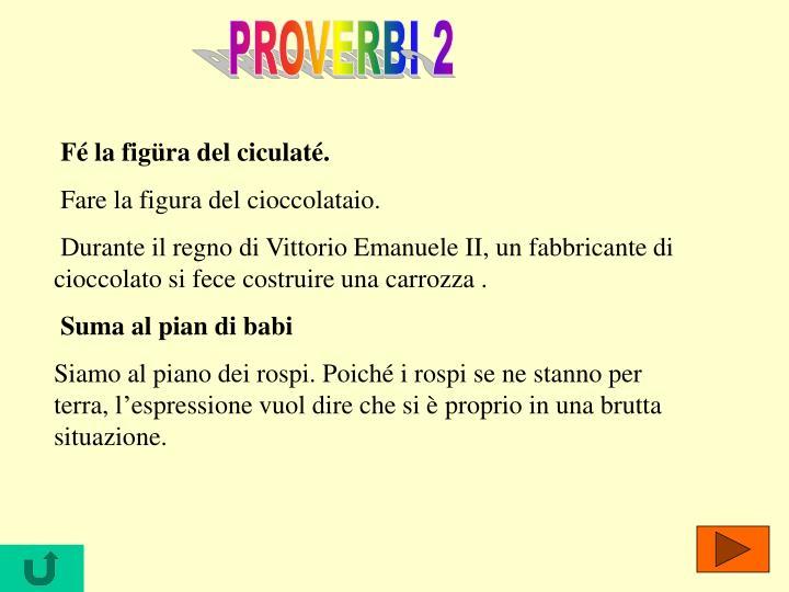 PROVERBI 2