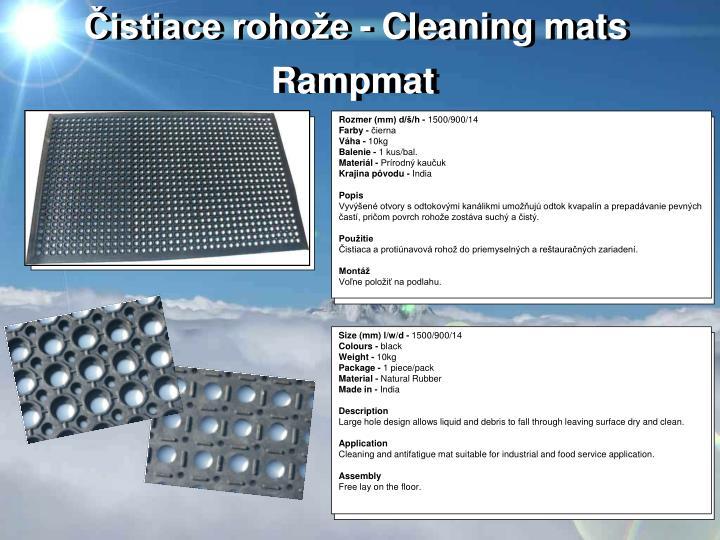 Čistiace rohože - Cleaning mats