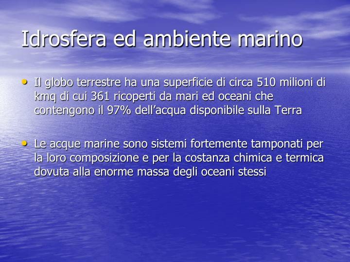 Idrosfera ed ambiente marino