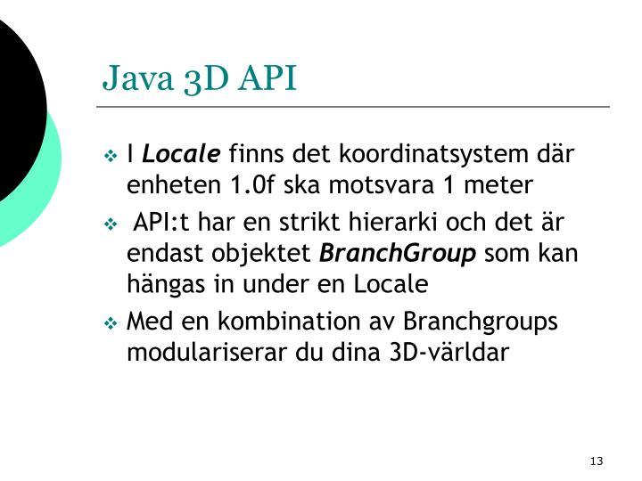 Java 3D API