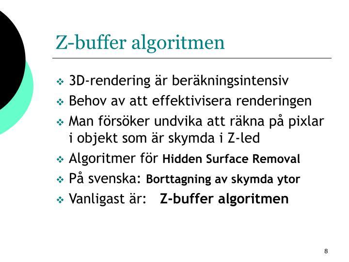 Z-buffer algoritmen