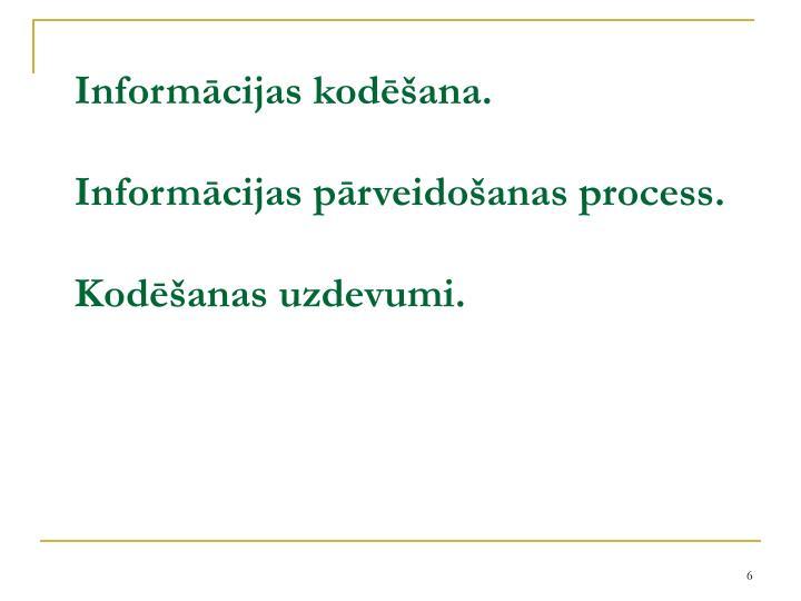 Informācijas kodēšana.