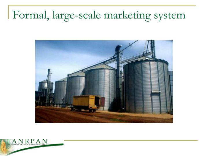 Formal, large-scale marketing system