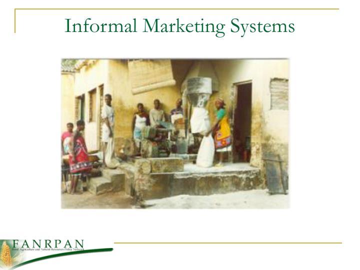 Informal Marketing Systems