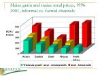 maize grain and maize meal prices 1996 2001 informal vs formal channels