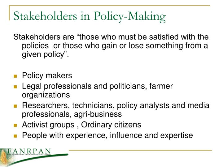 Stakeholders in Policy-Making