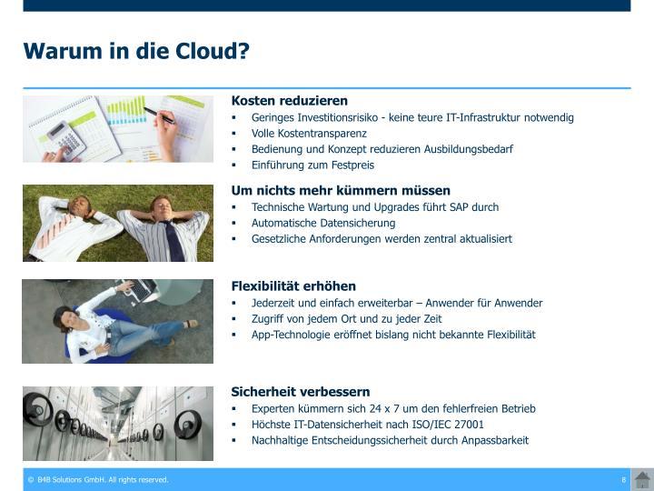 Warum in die Cloud?