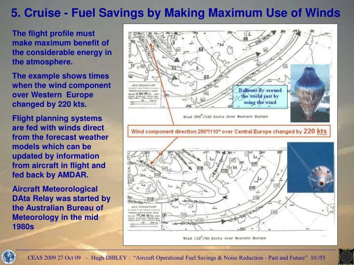 5. Cruise - Fuel Savings by Making Maximum Use of Winds