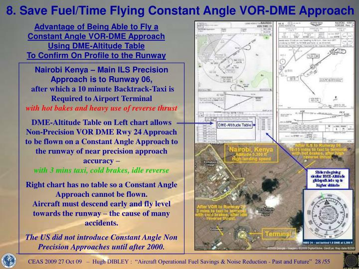 8. Save Fuel/Time Flying Constant Angle VOR-DME Approach