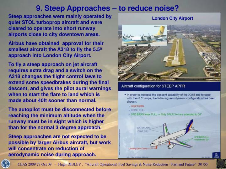 9. Steep Approaches – to reduce noise?