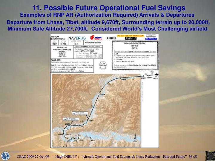 11. Possible Future Operational Fuel Savings
