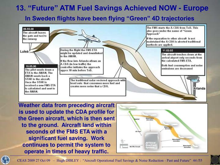 "13. ""Future"" ATM Fuel Savings Achieved NOW - Europe"
