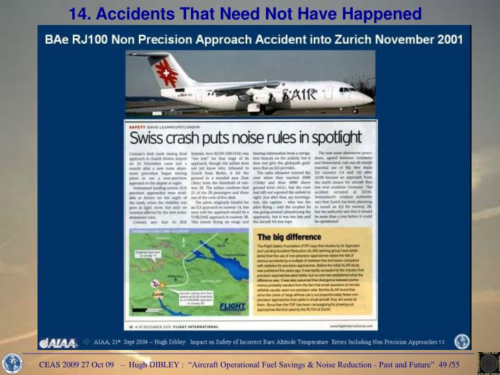 14. Accidents That Need Not Have Happened