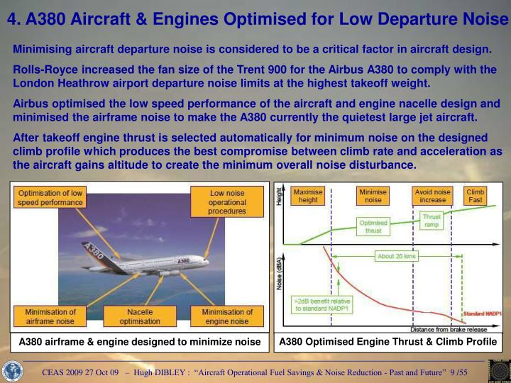 A380 Optimised Engine Thrust & Climb Profile