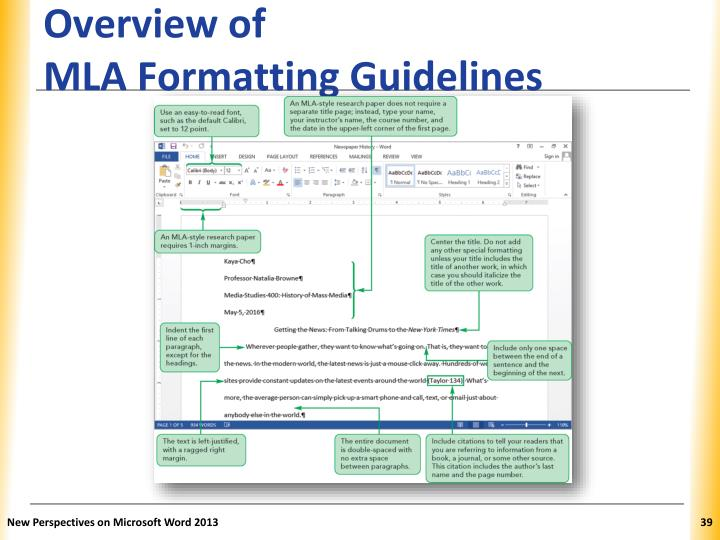 mla formatting rules