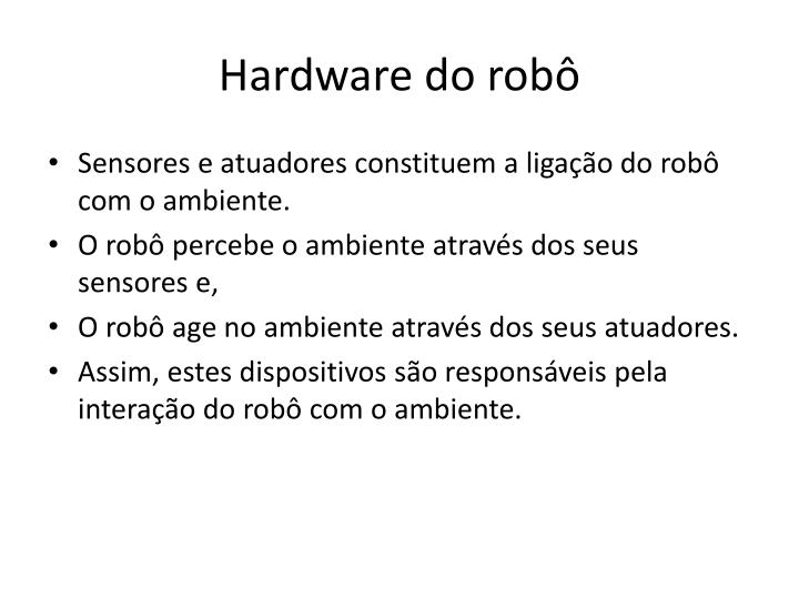 Hardware do robô