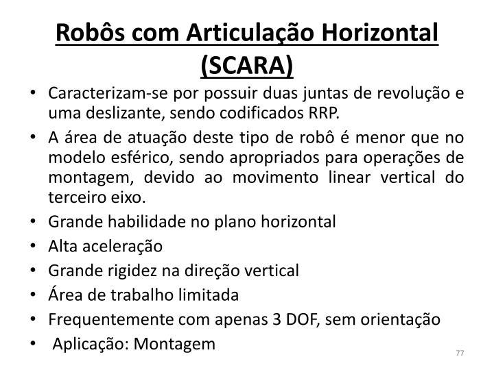 Robôs com Articulação Horizontal