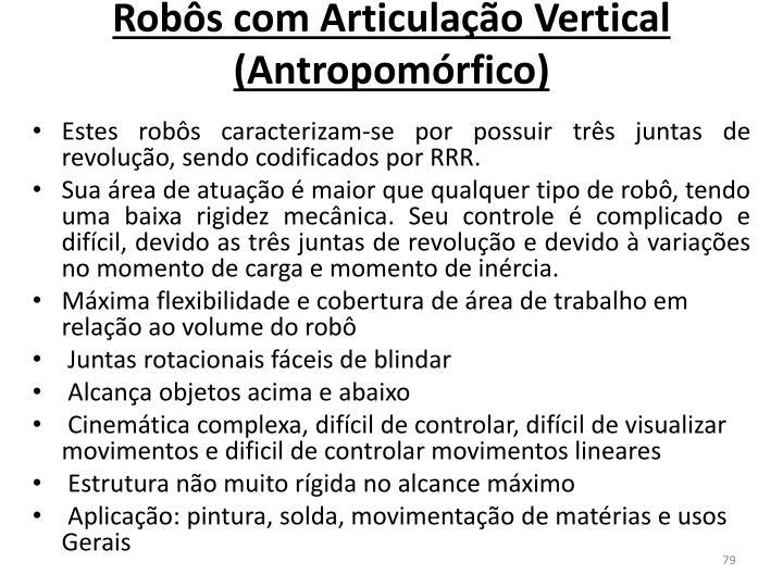 Robôs com Articulação Vertical  (Antropomórfico)