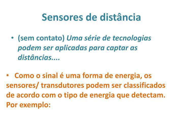 Sensores de distância