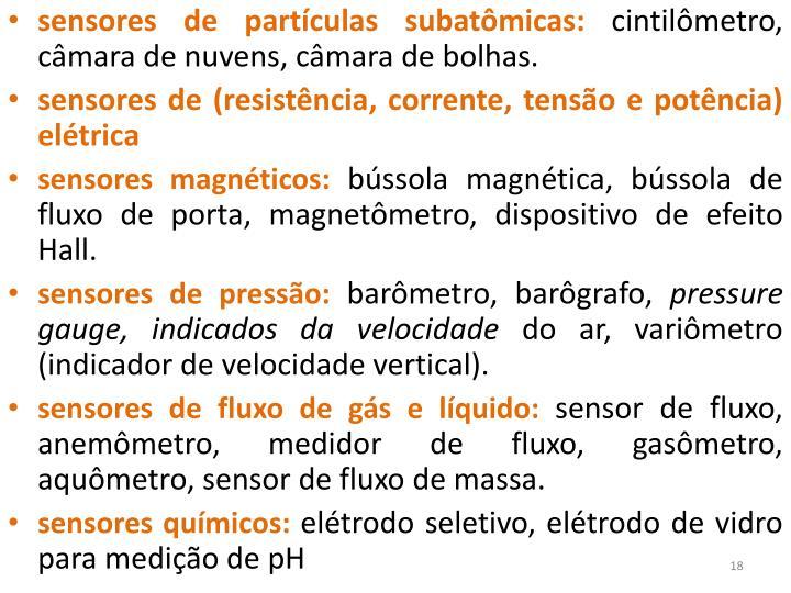sensores de partículas subatômicas: