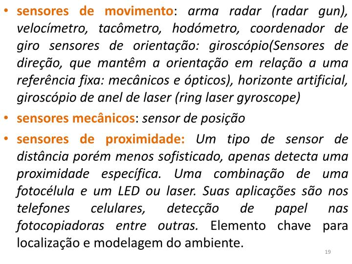 sensores de movimento