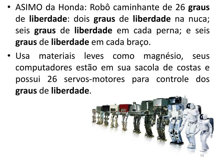 ASIMO da Honda: Robô caminhante de 26