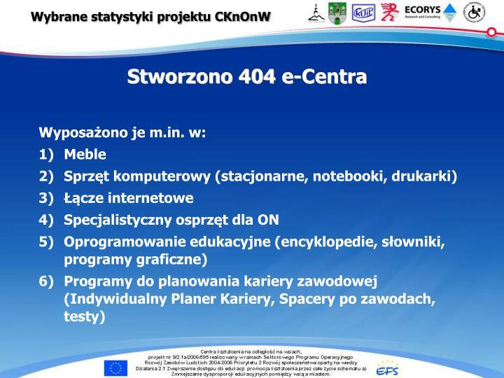 Wybrane statystyki projektu CKnOnW