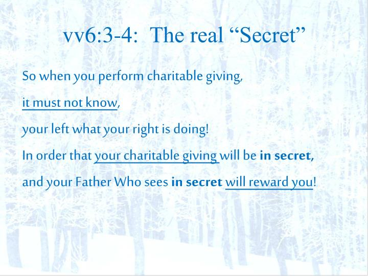 "vv6:3-4:  The real ""Secret"""