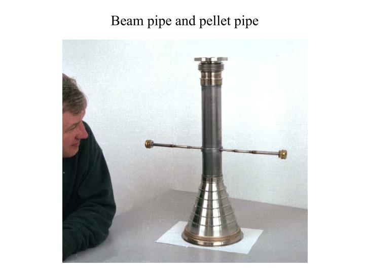 Beam pipe and pellet pipe