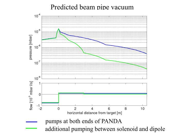 Predicted beam pipe vacuum