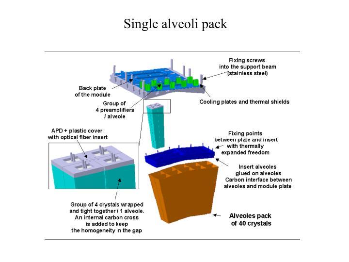 Single alveoli pack